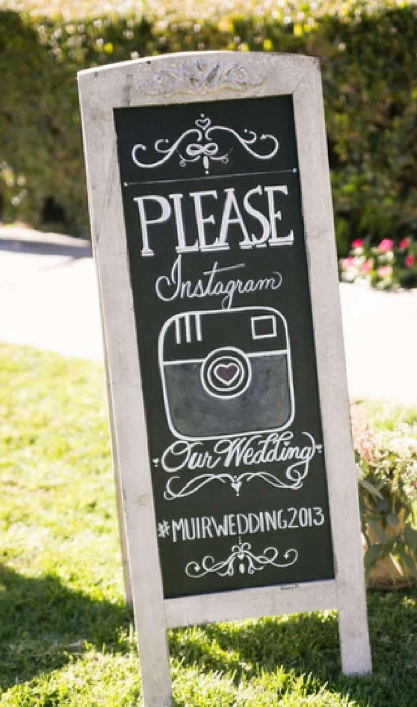 board for wedding Instagram hashtag