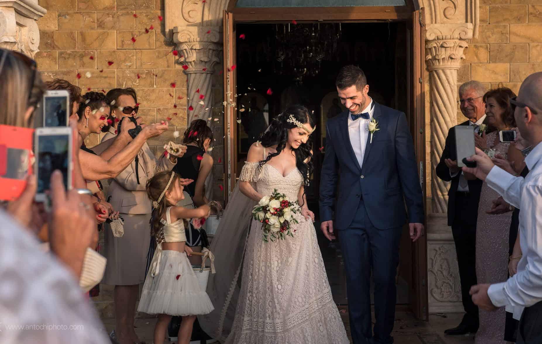 real wedding in Cyprus bohemian wedding just married