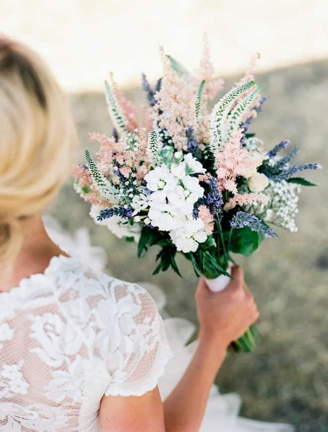 wedding bouquet with dried flowers