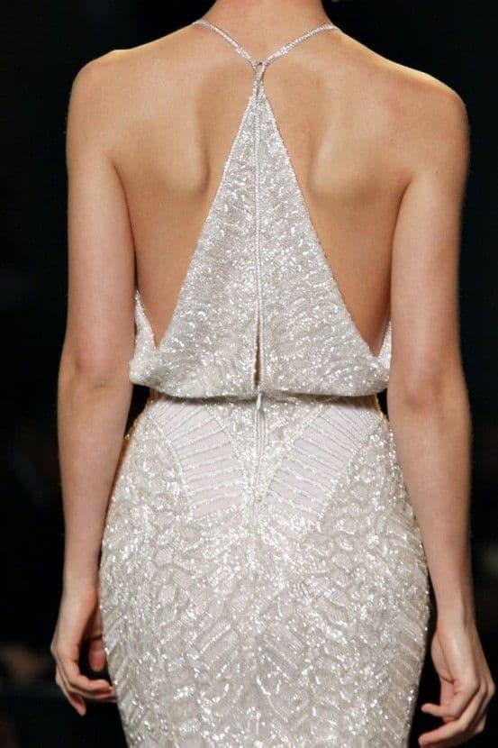 wedding dress with a glam- back design