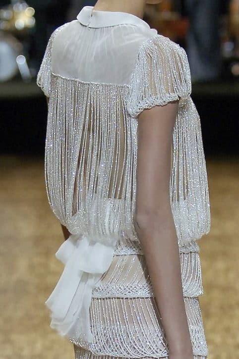 fringe look wedding dress