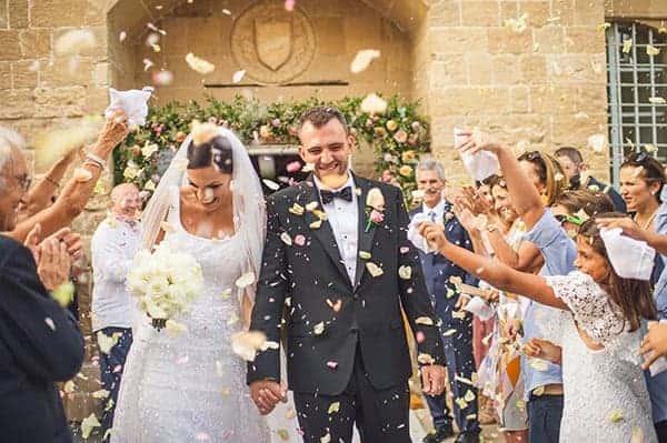 real wedding in Cyprus bride and groom just married