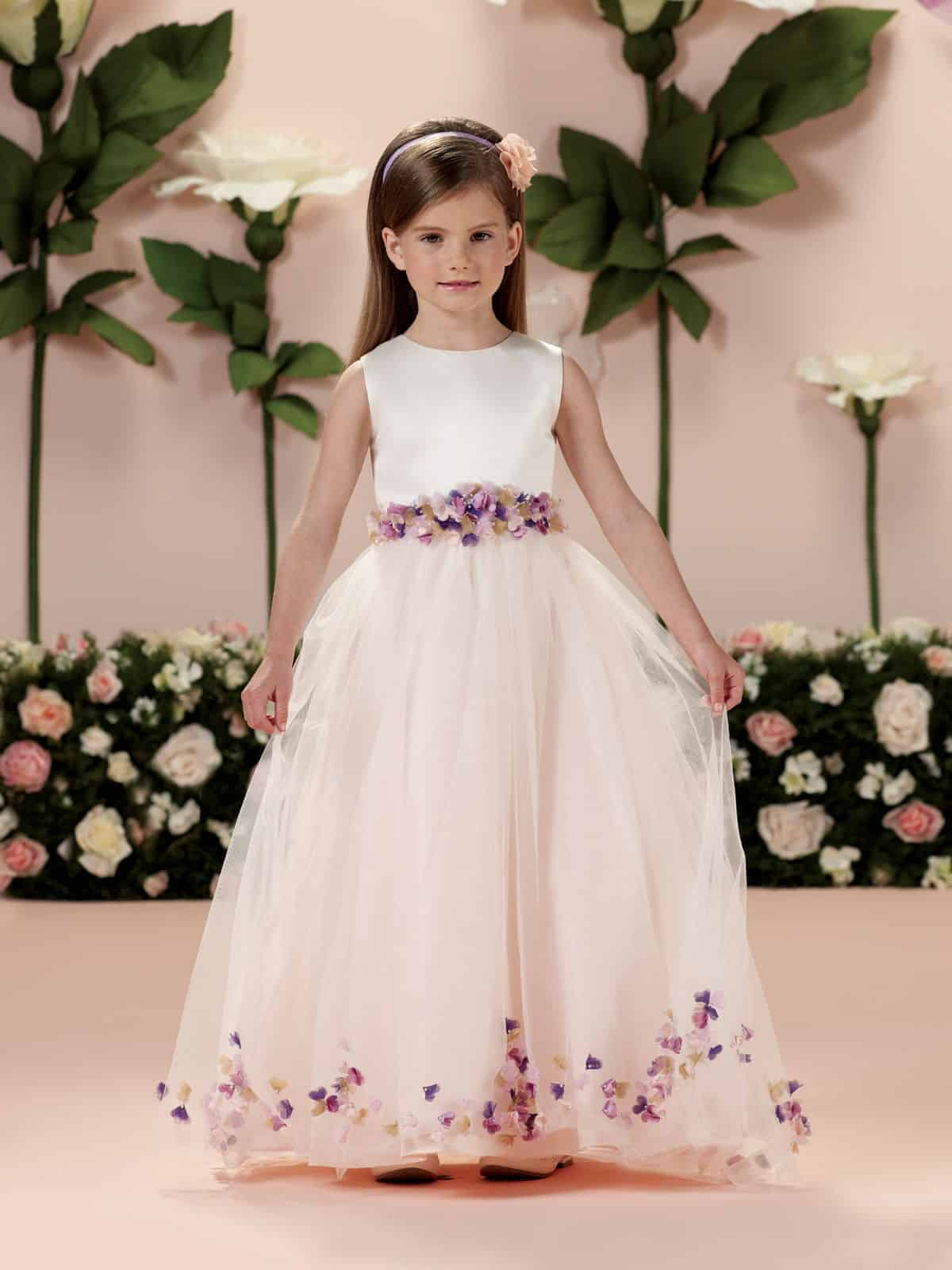 flower girl with princess dress by Joan Calabrese