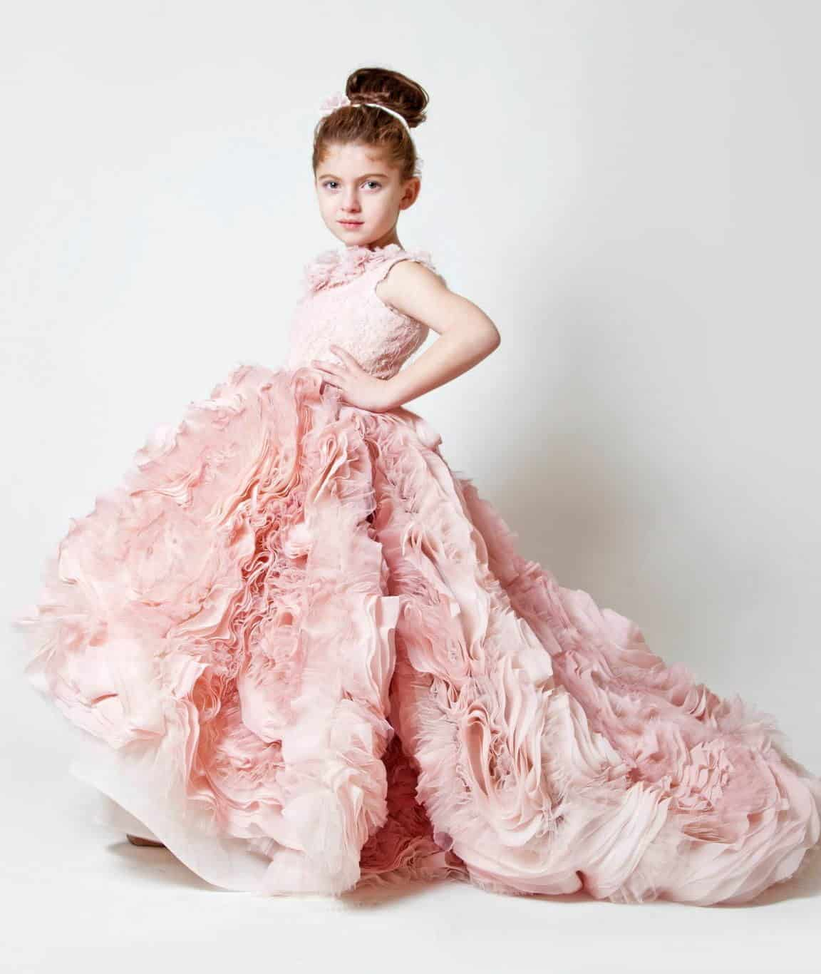 flower girl with a pink dress by Krikor Jobatian