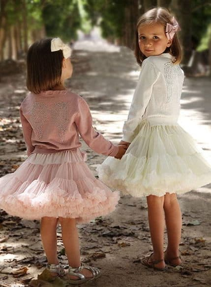 flower girls with a ballerina dresses pink and ivory colour by angel's face
