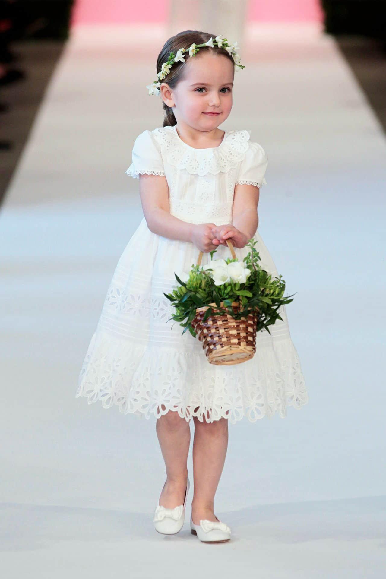 flower girl with a dress by  Oscar de la Renta