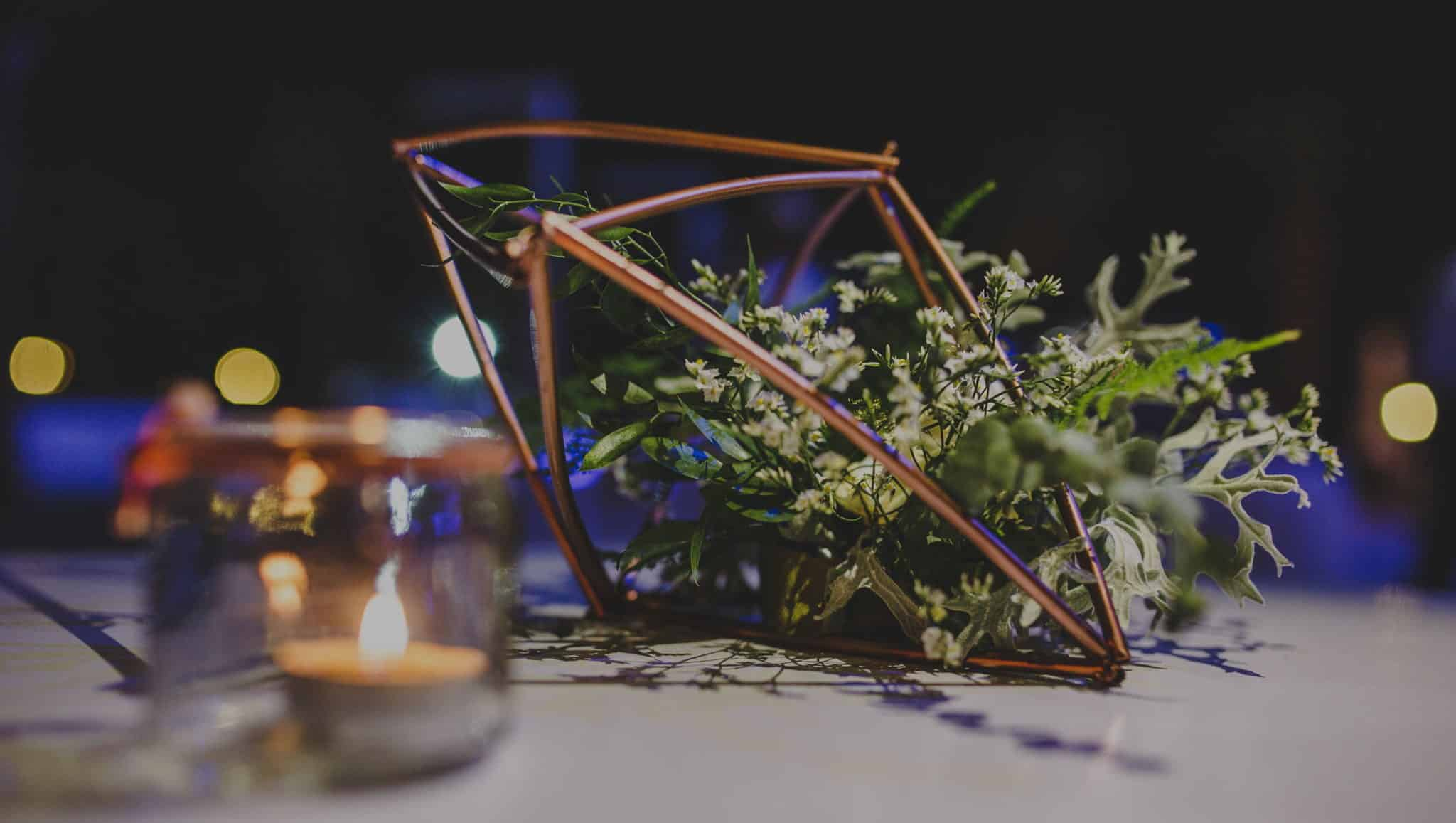 real wedding in Cyprus wedding decoration with geometric details