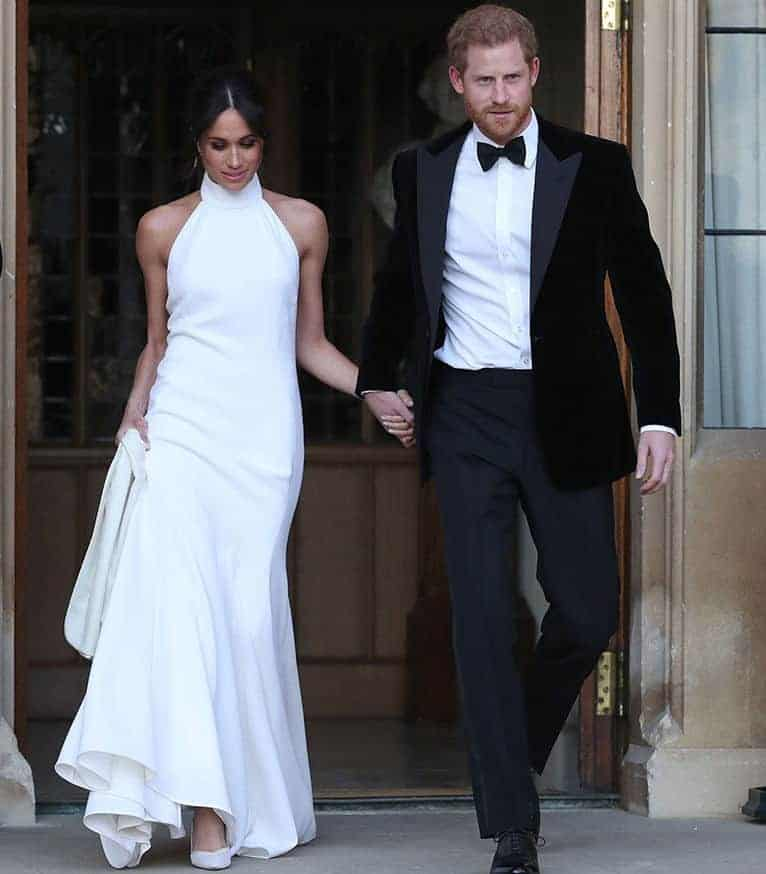 Meghan Markle with a wedding dress by Stella McCartney