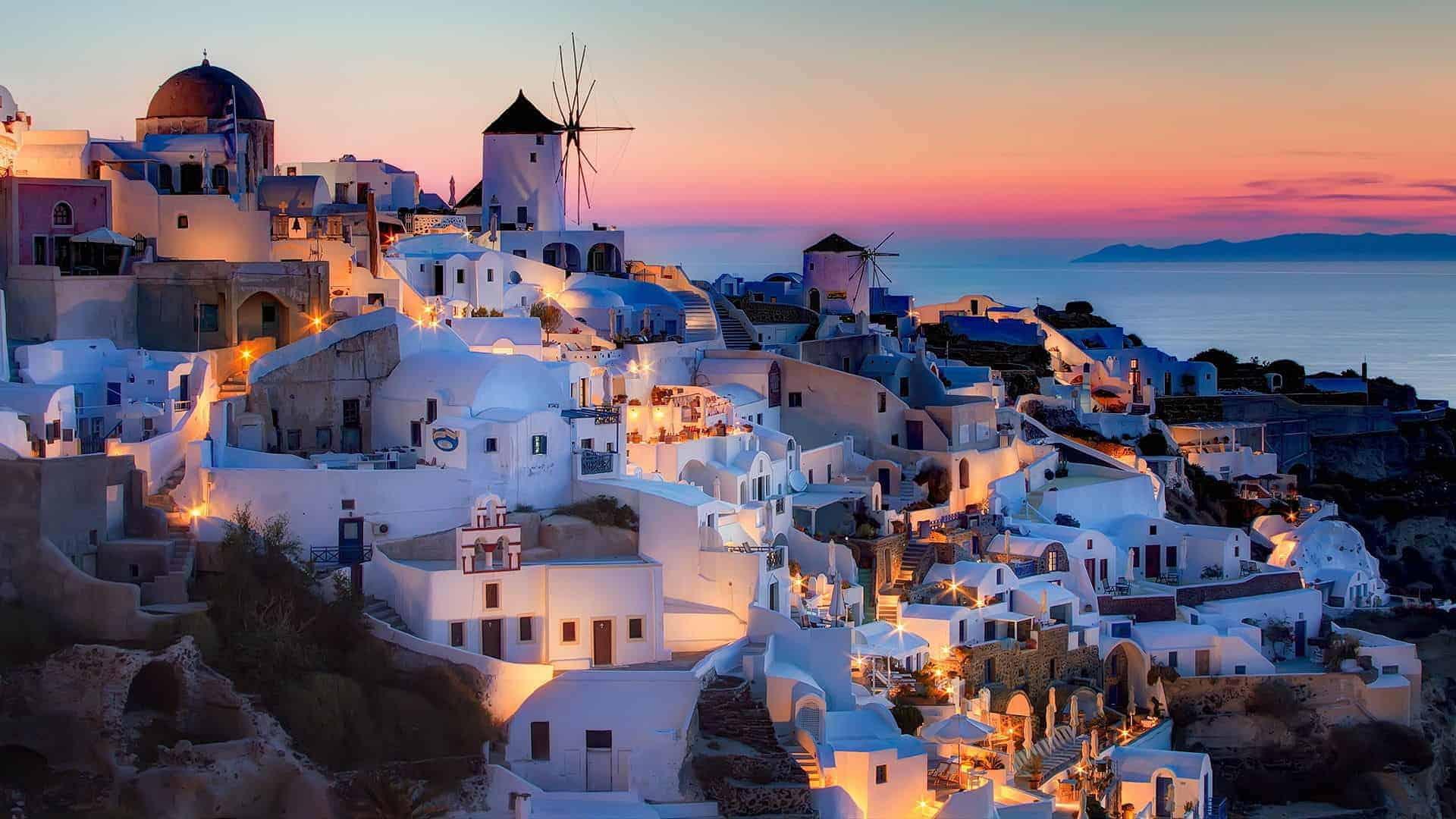 Ελλάδα Σαντορίνη μήνας του μέλιτος
