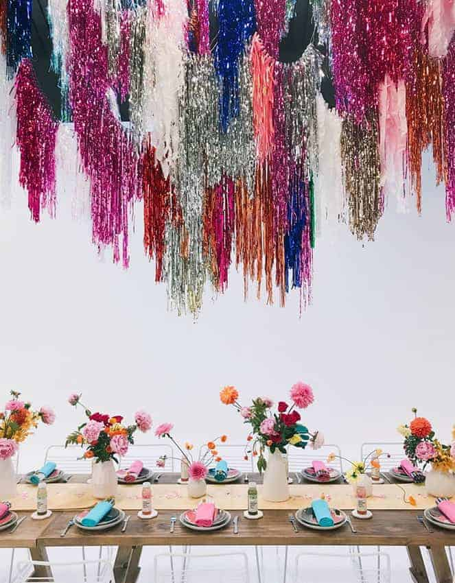 wedding hanging decoration with backdrops ceiling streamers crepe paper