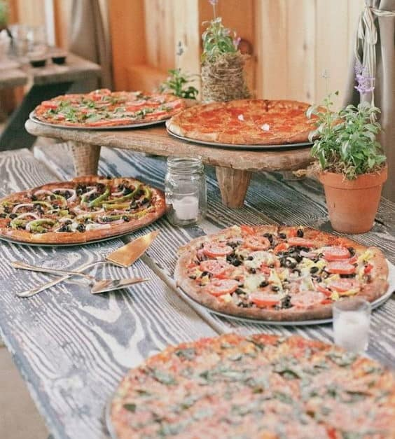 pizza catering για την γαμήλια δεξίωση