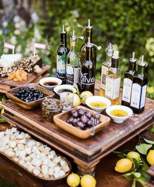 olives for wedding catering