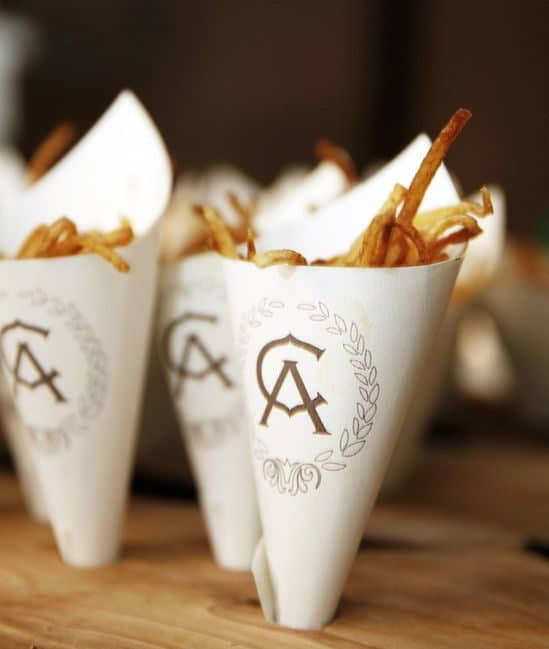 french fries served in cones