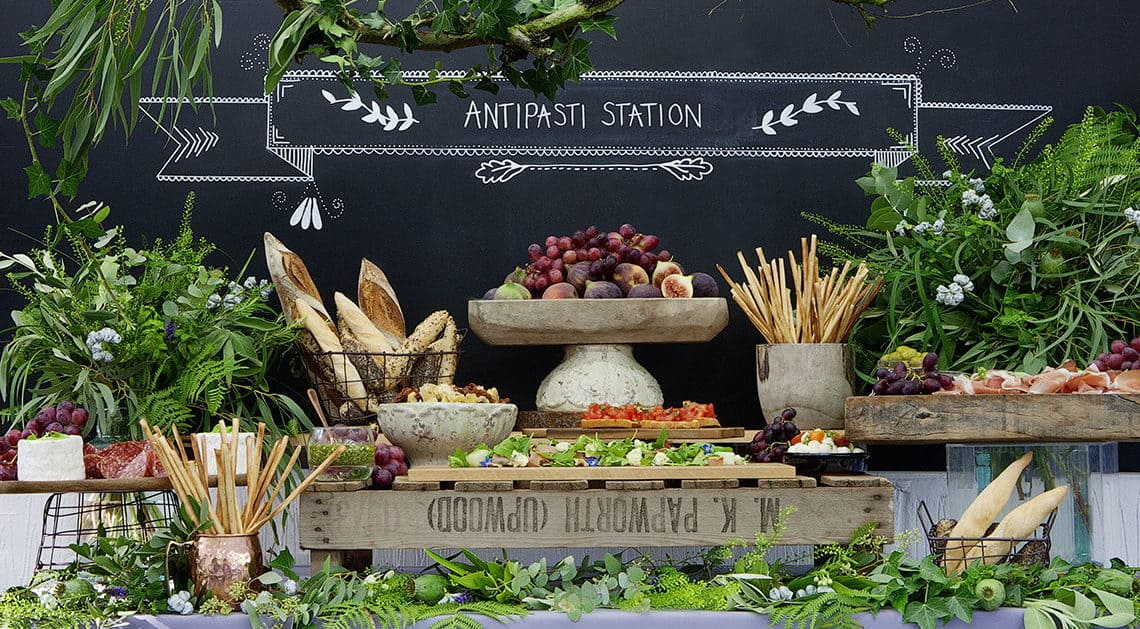 wedding catering station of fruits
