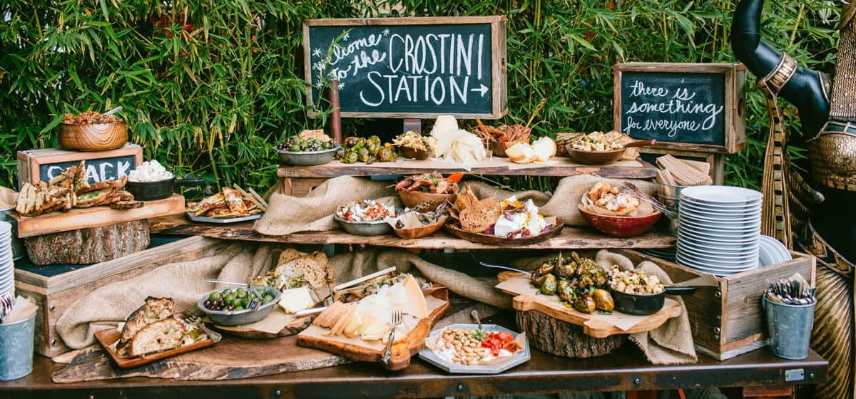 wedding catering station italian