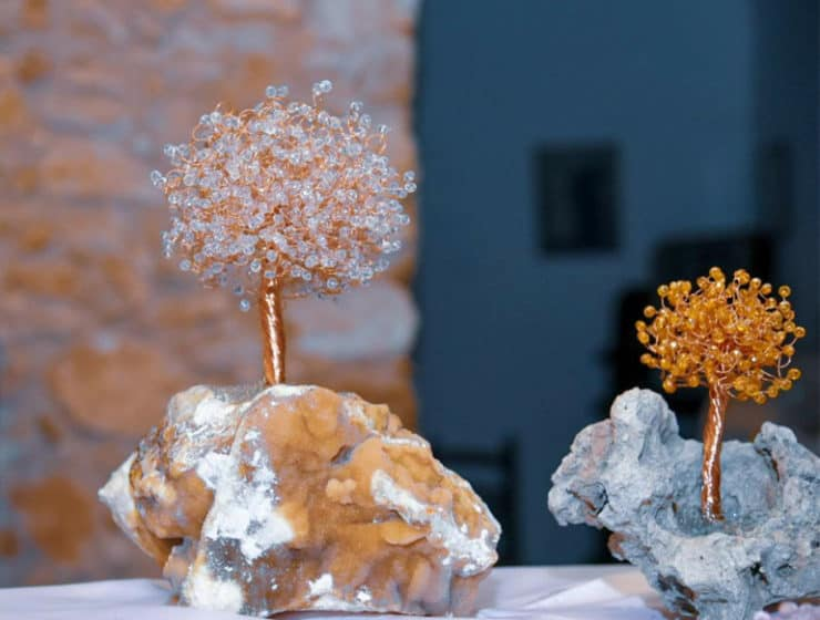 Wedding favours in different colours, by Tree of Life Helena Heart in Larnaca.