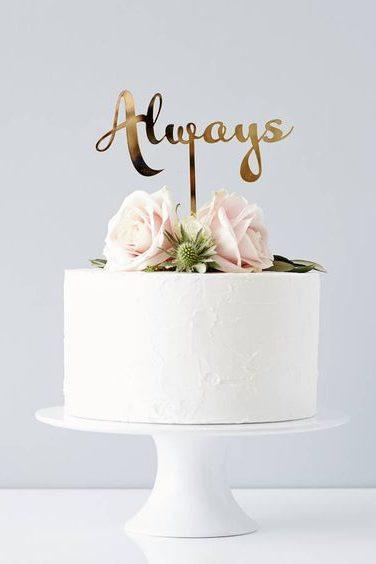 χρυσό cake topper για πάντα