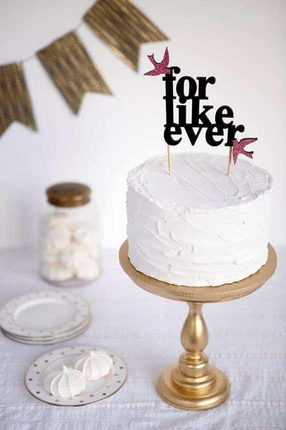 cake topper for like ever