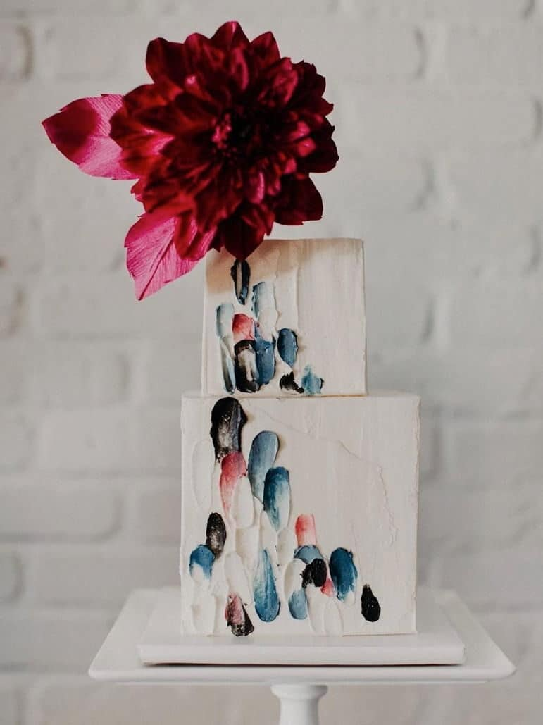 wedding cake with colour