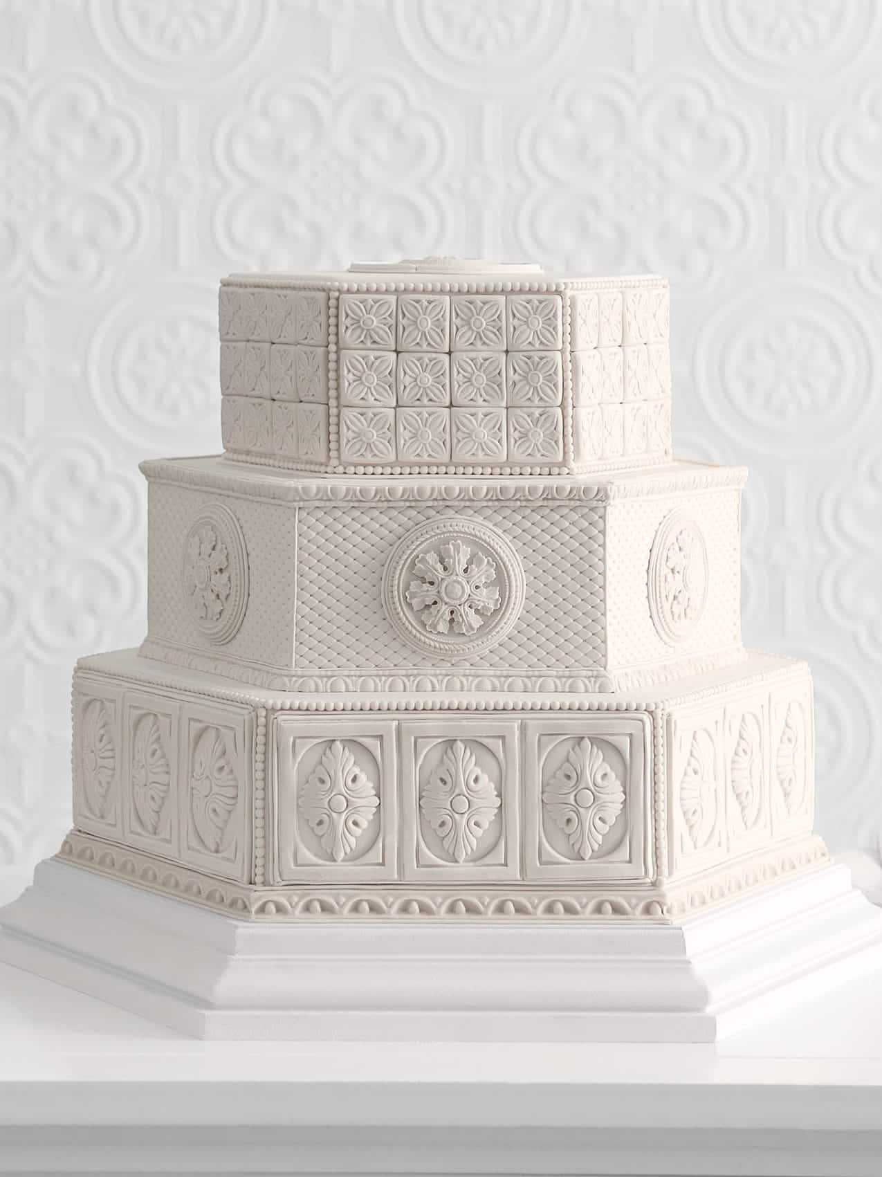 wedding cake in mosaic style