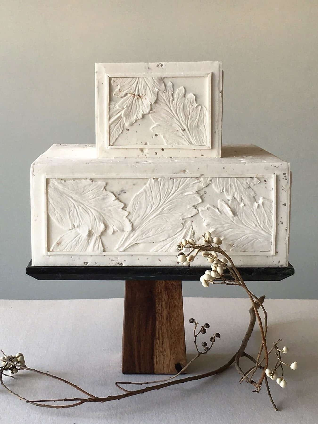 wedding cake like concrete texture