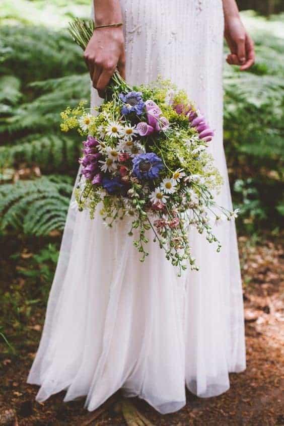 wedding bouquet with wildflowers