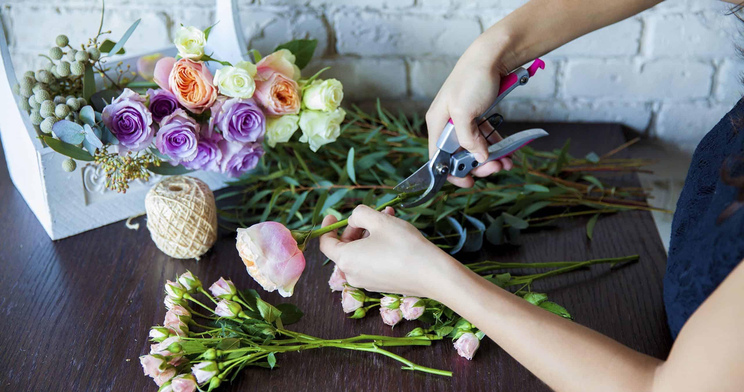 prepared a wedding bouquet
