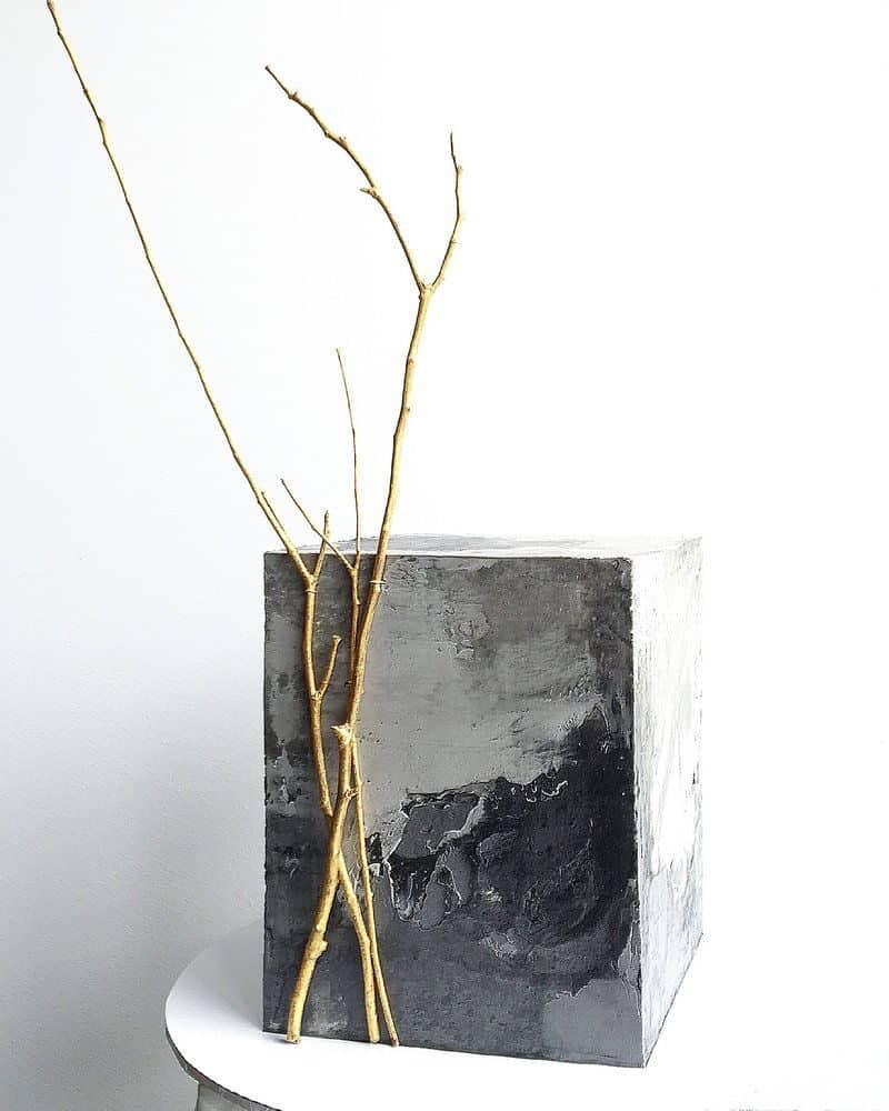 wedding cake with concrete texture