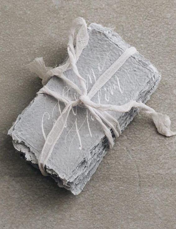 wedding invitation in concrete grey colour