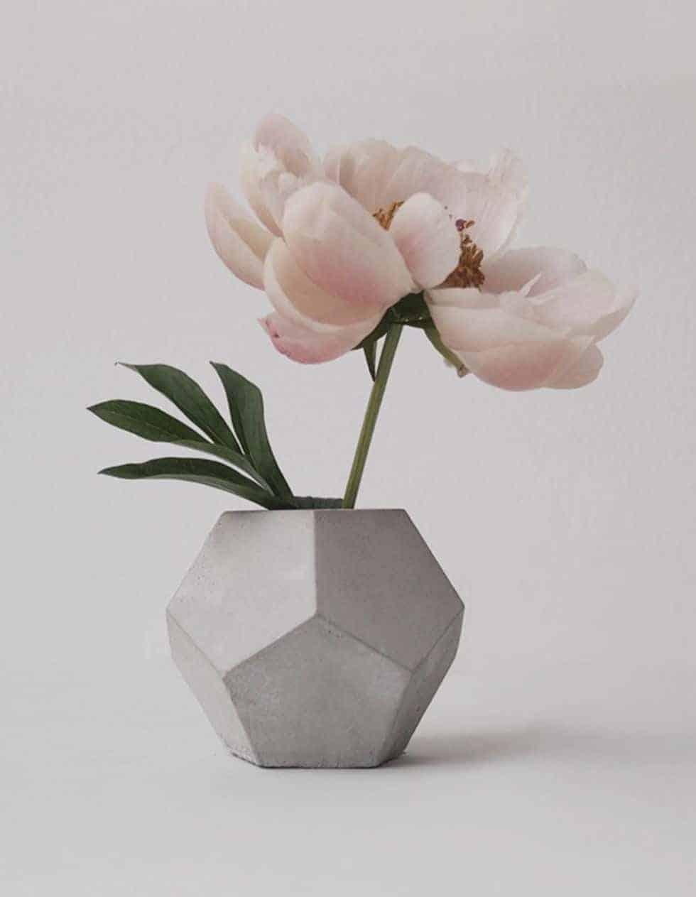 vase with concrete