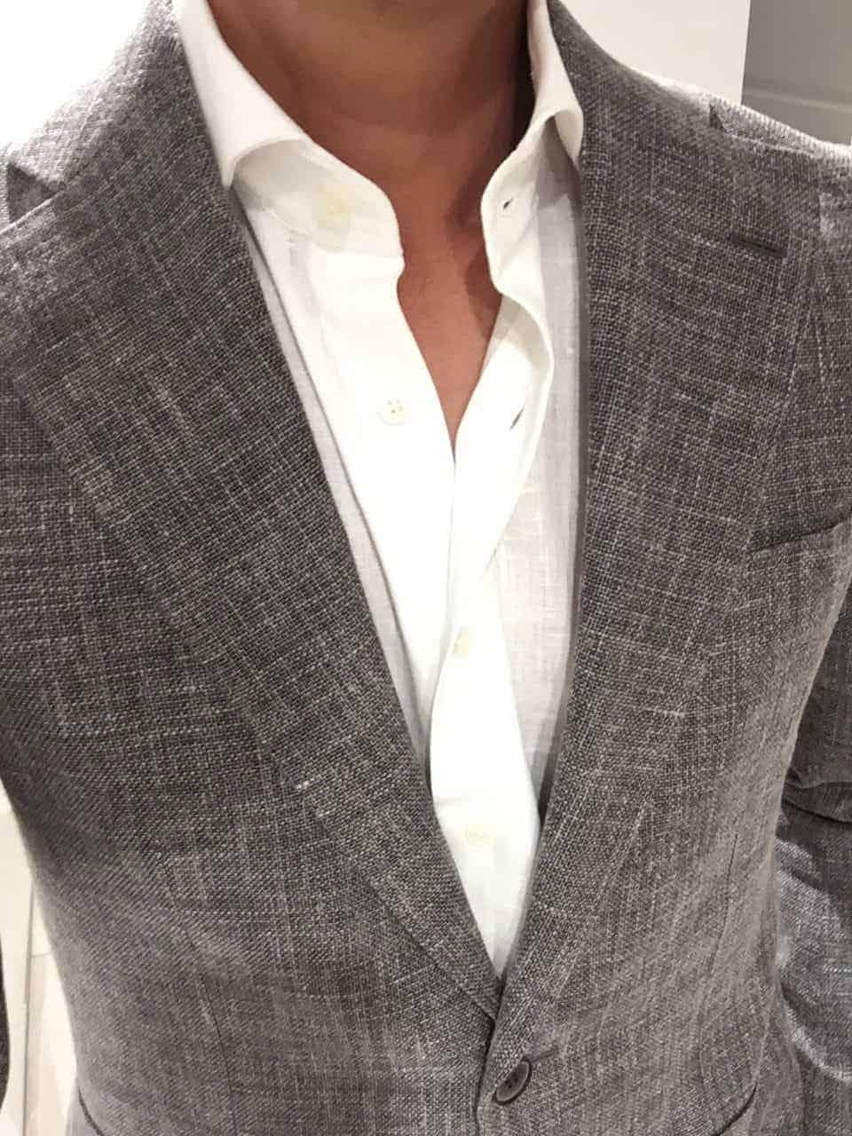 groom suit in a concrete grey colour