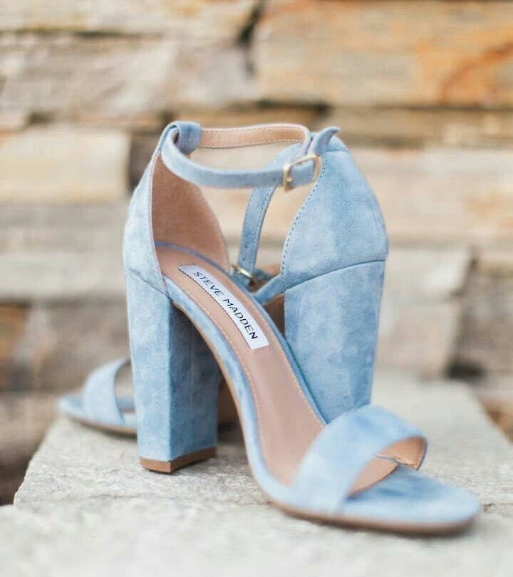 dusty blue bridal shoe