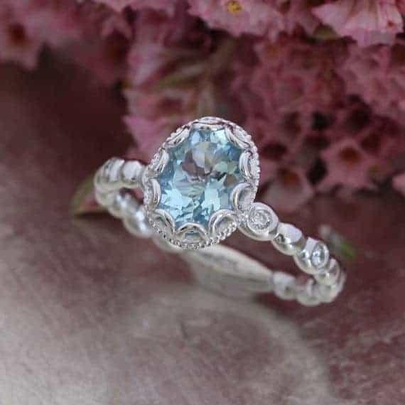 dusty blue wedding ring