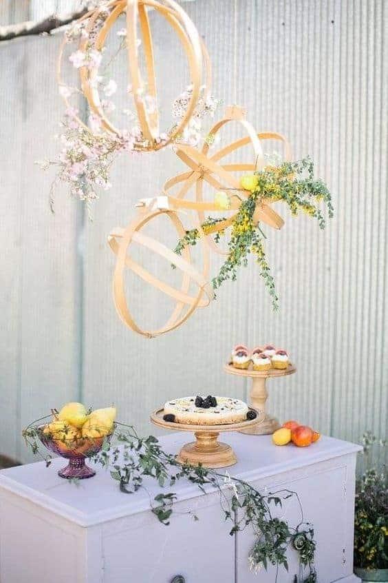 wedding geometric wooden hanging decoration