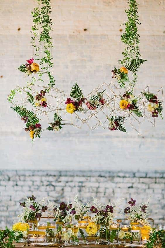 wedding geometric hanging decoration