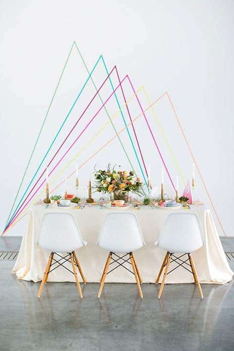 wedding geometric backdrop decoration