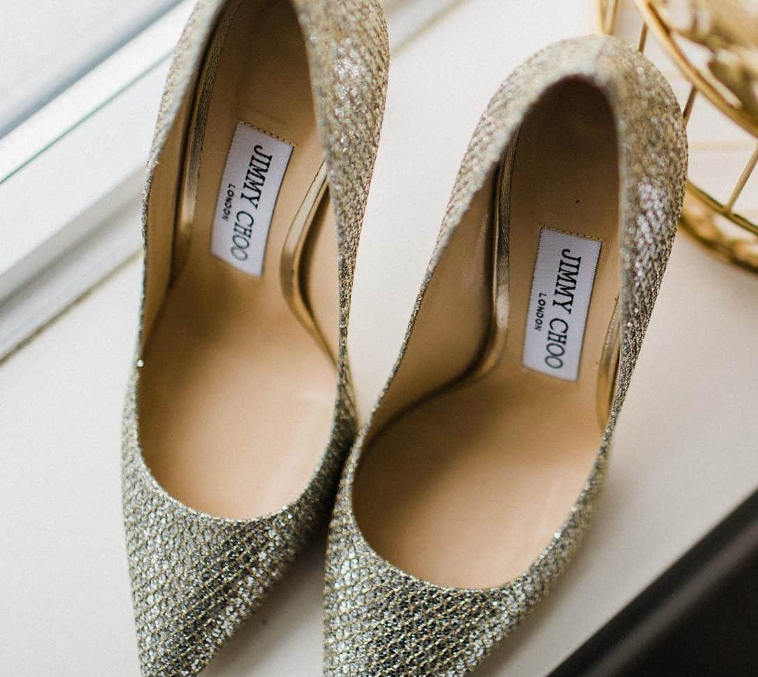 wedding bridal shoes in green shades