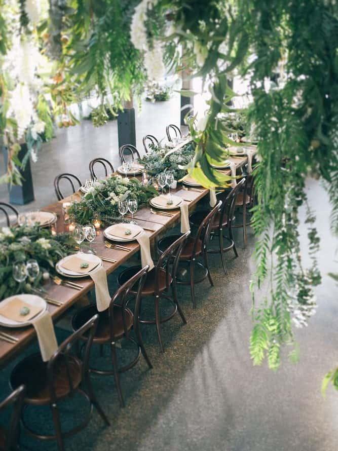 wedding decoration greenery centrepiece