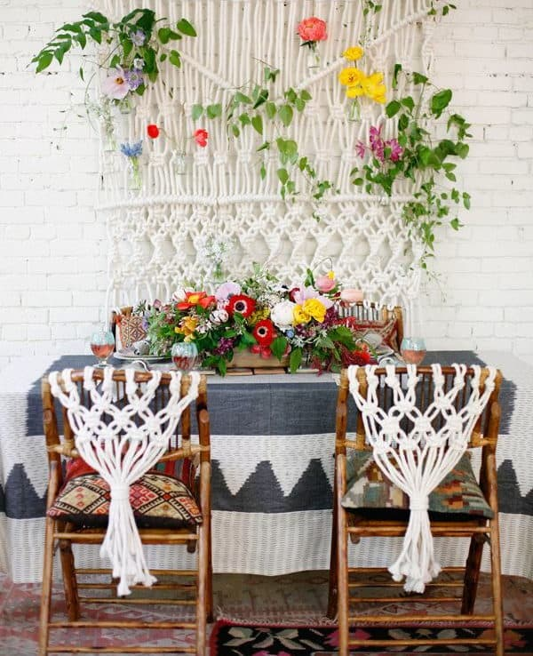 wedding chair decoration with crochet
