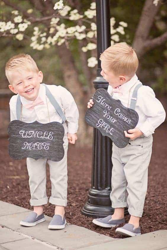 page boys in a summer wedding