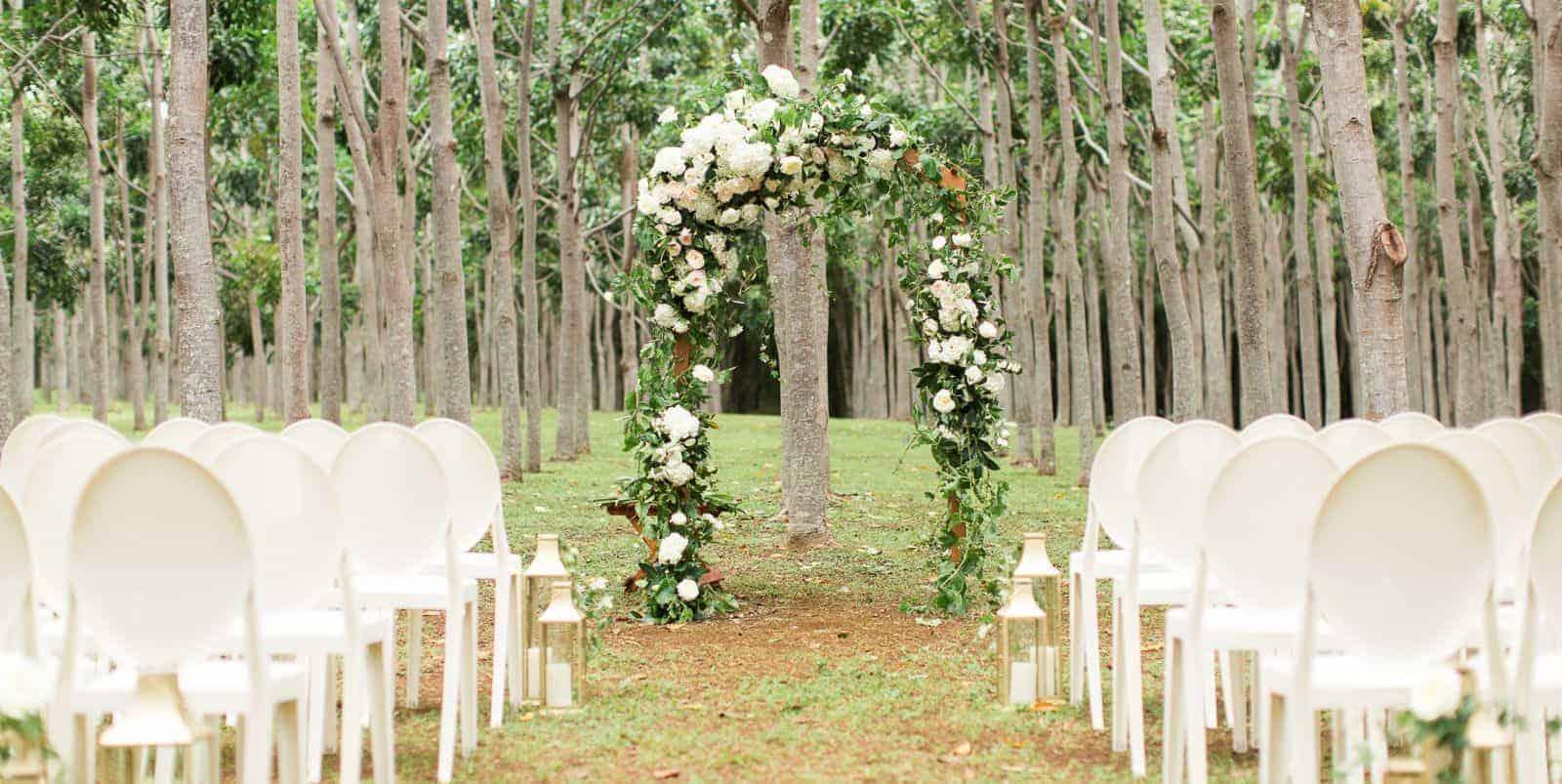 summer wedding ceremony decoration