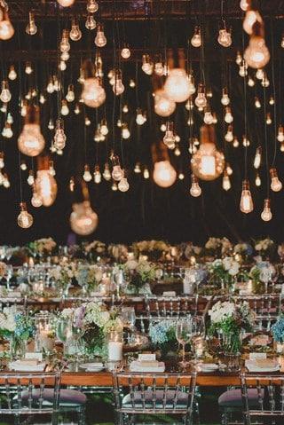 summer wedding lighting decoration
