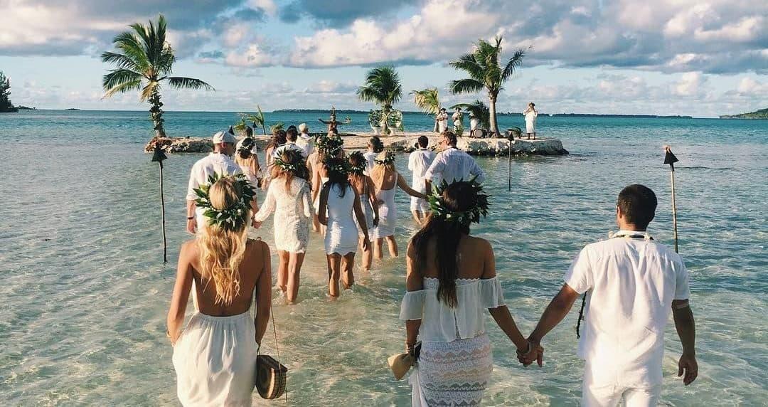 wedding in tropical island