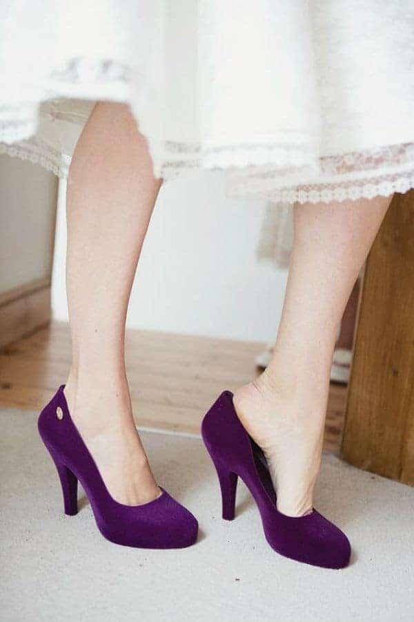 νυφικά παπούτσια σε χρώμα μοβ