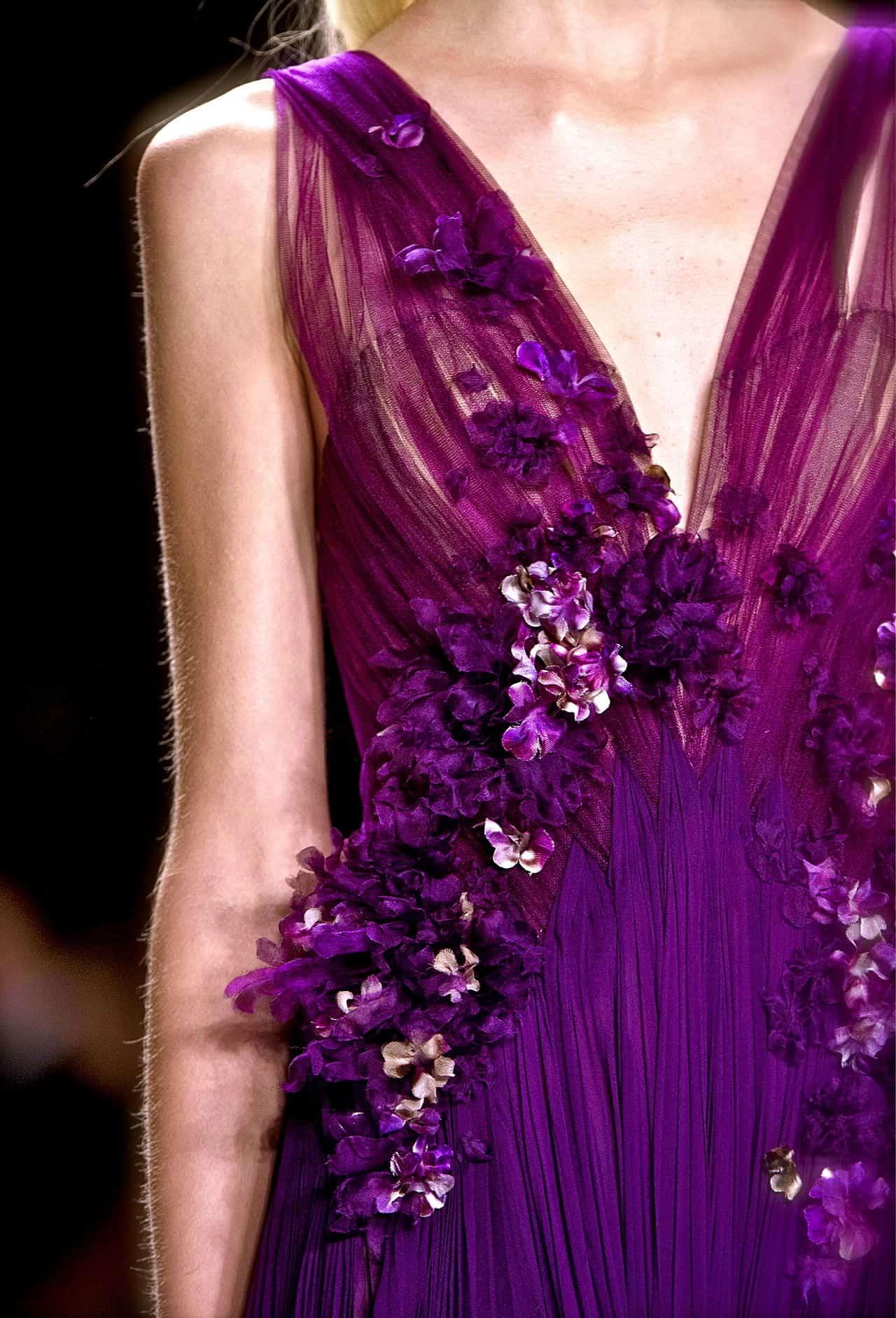 wedding dress in purple colour