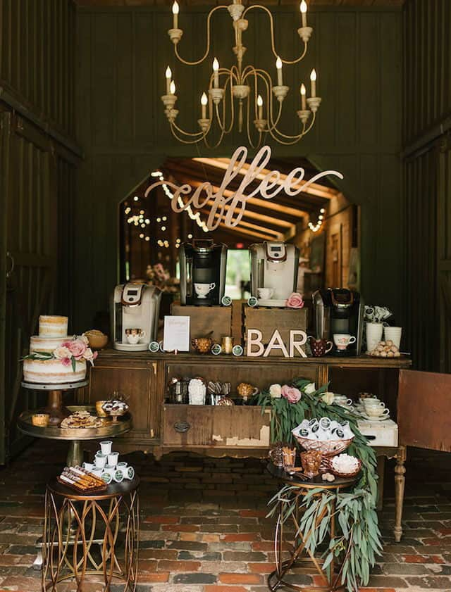 wedding coffee station