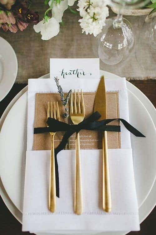 wedding dinner plate decoration