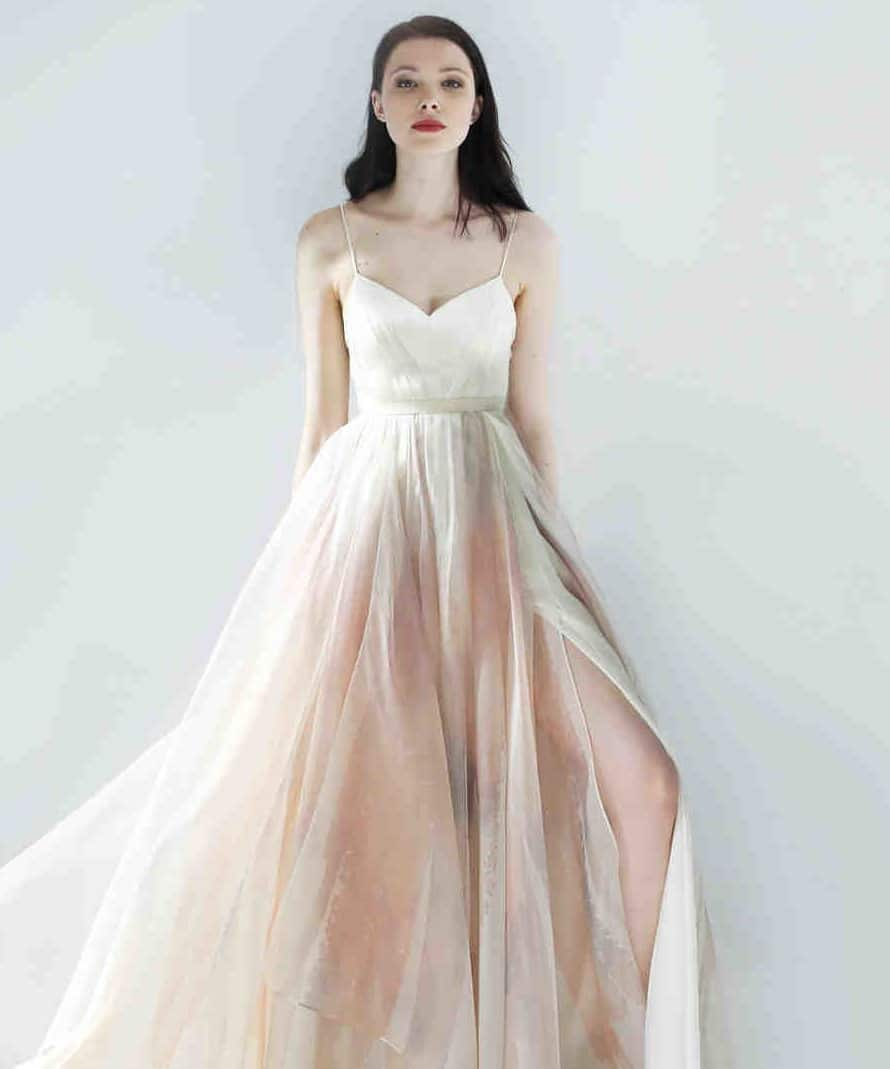 wedding dress with heart shape for brides with large bust