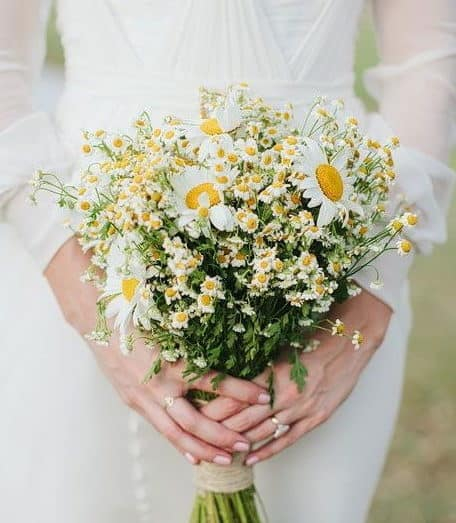 wedding bouquet with white daisies