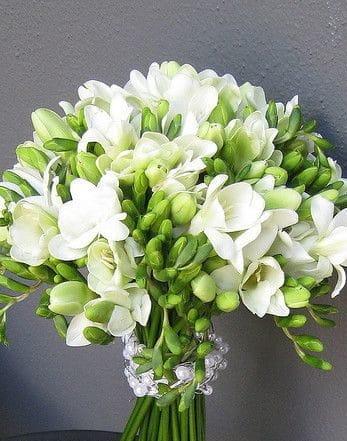 wedding bouquet with freesia